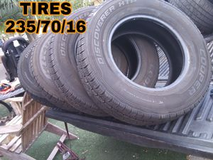 4 TIRES 235/70//16 for Sale in Las Vegas, NV
