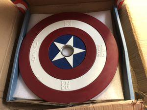 Captain America shield barbell plate 25 pound (1 plate) for Sale in Marietta, GA