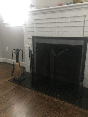 Fireplace Tools and Folding Screen for Sale in Falls Church, VA