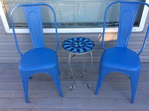 Indoor/outdoor metal chairs for Sale in Amherst, VA