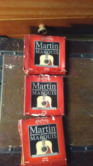 Martin acoustic guitar stings for Sale in Kissimmee, FL