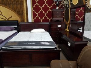 $695 brand new cherry color queen size bedroom set for Sale in Takoma Park, MD