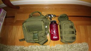 Condor EDC bag with bottle pouch and water bottle for Sale in Portland, OR