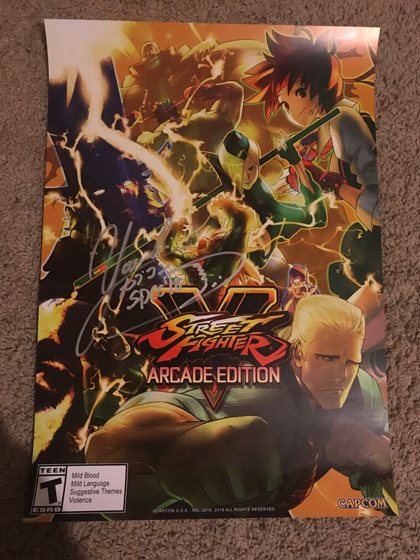 Street Fighter V Arcade Edition Poster SIGNED for Sale in Tempe, AZ -  OfferUp