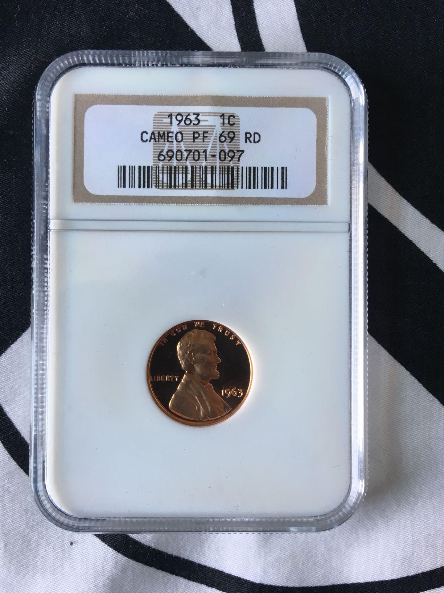 1963 Penny cameo
