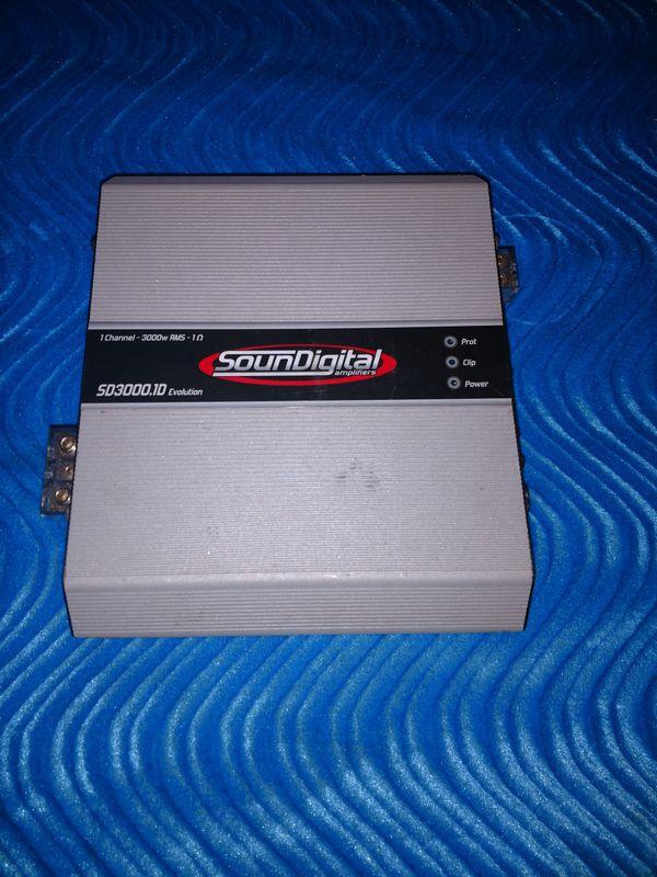 Sound Digital Sd3000 1d Evolution 3000 watt mono amp for Sale in Tampa, FL  - OfferUp