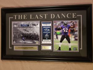 Framed picture of Ray Lewis last game in Baltimore for Sale in Harpers Ferry, WV