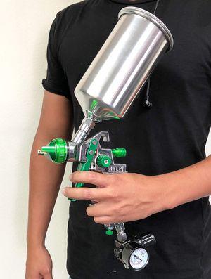 Photo New in box $27 HVLP Spray Gun Auto Paint Gravity Feed w/ Gauge Metal Flake Primer Nozzle 2.5 mm