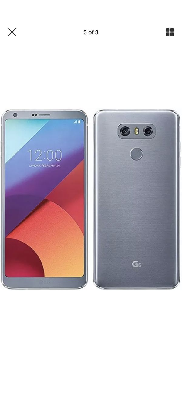 Lg g6 Tmobile,metro PCs,straight talk,cricket,att, any gsm Comes with  charger and 30 day warranty Unlocked for any gsm for Sale in Nashville, TN  -