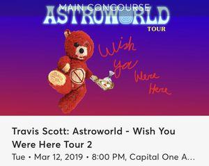 Travis Scott Ticket for Sale in Fairfax, VA