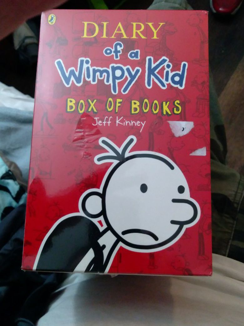 Diary of a Whimpy Kid Box of Books Sealed!!!