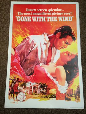 Classic Movie Posters Remake From Originals These Made In Year 2007 $10 Each Around 3 Feet Tall By 2 Feet Wide for Sale in Reedley, CA