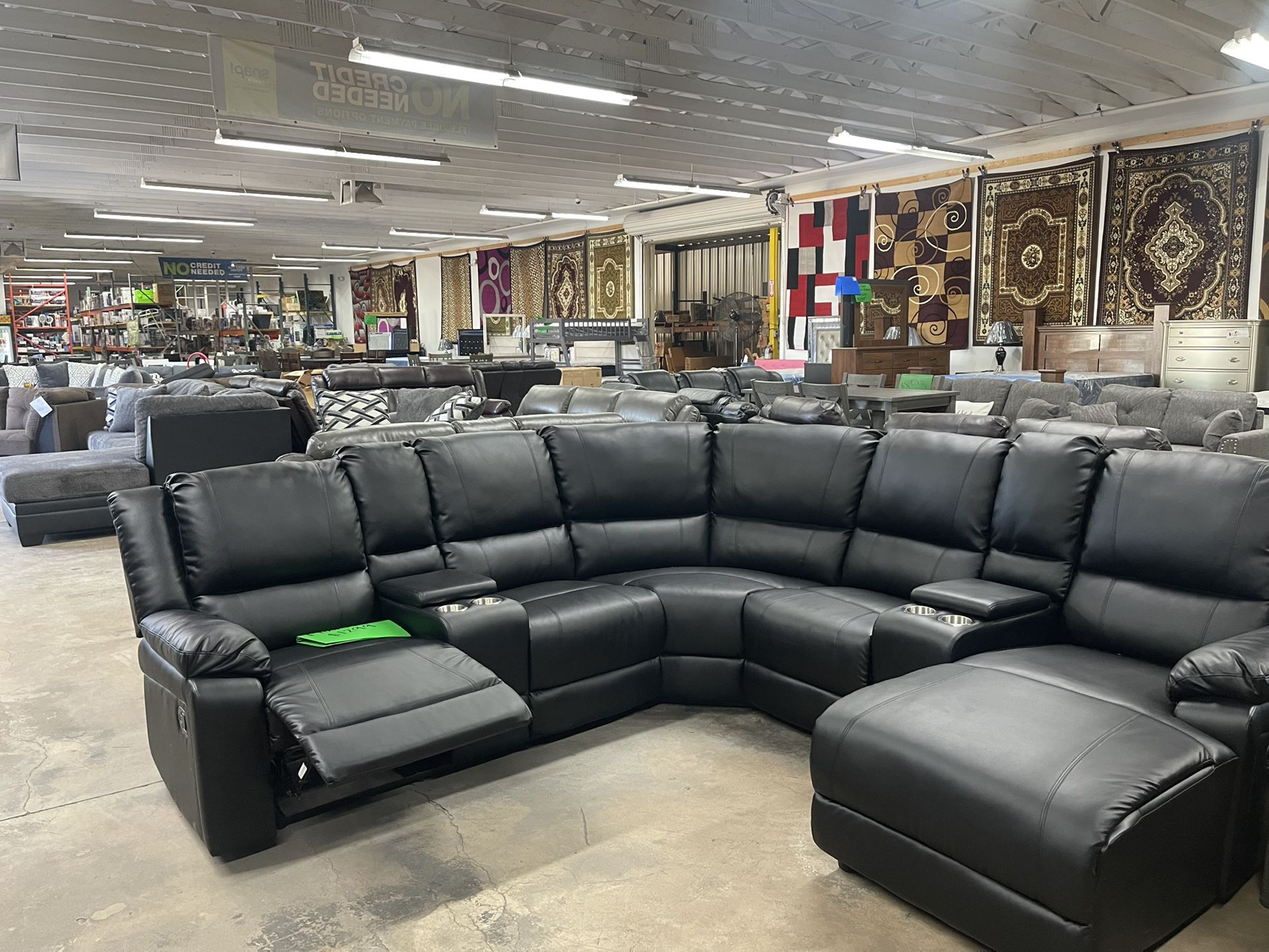 xlarge sectional with cup holders $1299
