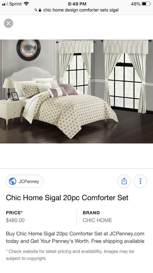 Chic Home Sigal 20 Pc Comforter Set Household In Chula Vista Ca