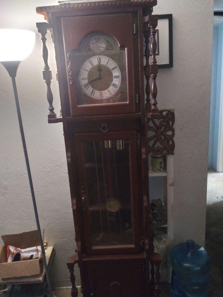 Vintage Emperor Grandfather clock with Bei Heinz Jaust movement
