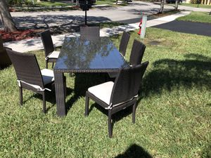 Patio Furniture-Kevin Charles 6 Chair Patio Dining Set for Sale in Fort Lauderdale, FL