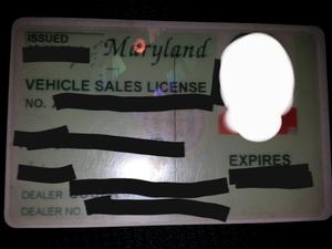 Vehicle Dealer's License * NOT TAG RENTAL * for Sale in Alexandria, VA