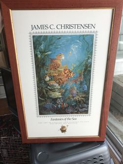 James Christensen Fantasies of the Sea Signed Poster, Mint, Framed w/First Ed. Thumbnail