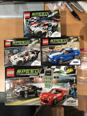 LEGO speed champions 4 pack 75874 75871 75872 75873 NISB for Sale in Irvine, CA