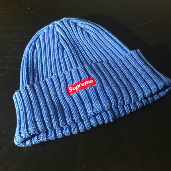 8558748bf4b Supreme Overdyed Ribbed Beanie Royal SS18 Bape