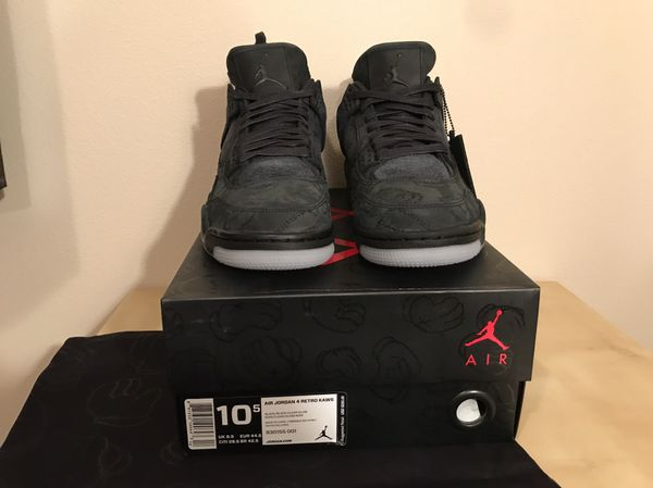 b775d4b3f45d40 Jordan retro 4 kaws size 10.5 new ds with receipt for Sale in Sumner ...