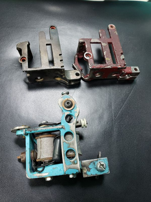 Custom hand made huck spaulding tattoo machine and frames for Sale ...