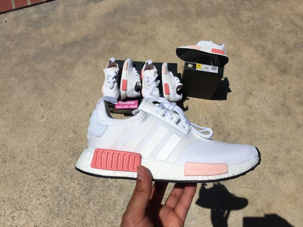 ADIDAS NMD R1 BY9952 WHITE ROSE   PINK SIZE 5 WOMENS ONLY! 100% Authentic    NEW 370ec9efd