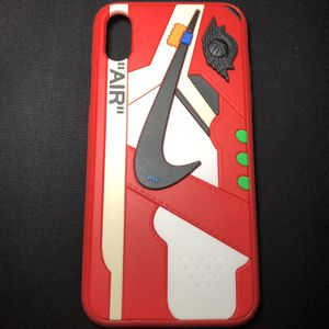 New iPhone X OFFWHITE JORDAN 1 Case Red for Sale in San Fernando, CA