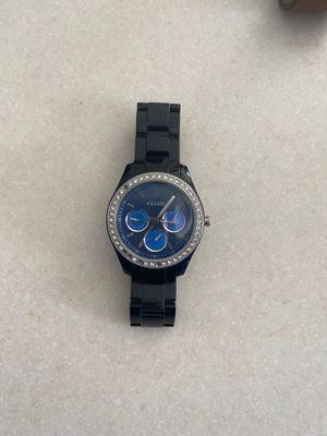 Photo Women's Black w/ BlueFace Fossil Watch