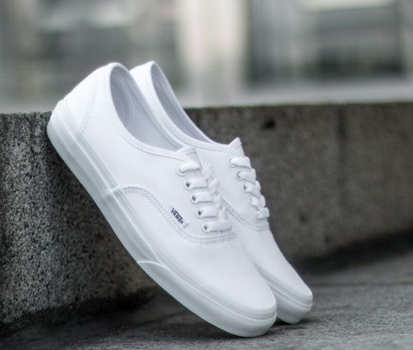 4fb41ffacbb All white vans men and women shoelace  mothers day gift  for Sale in ...
