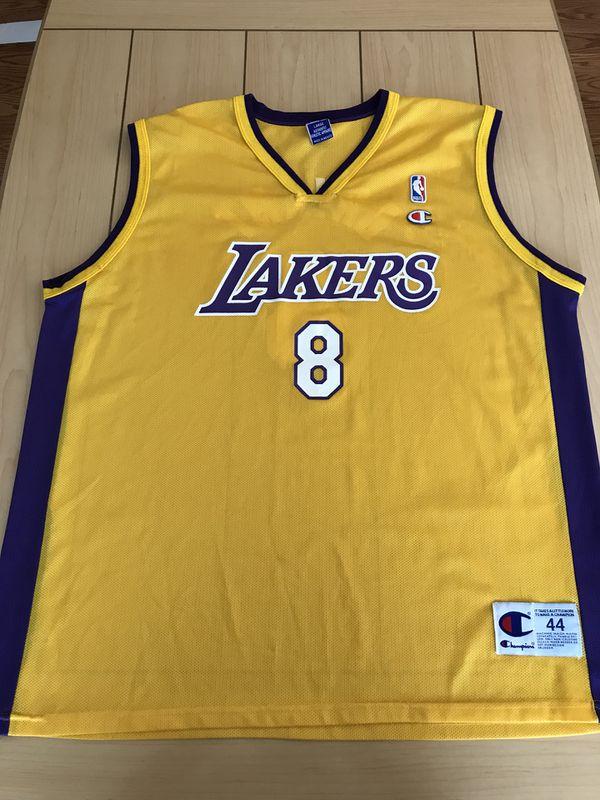 fa87dfcdd4e Vintage NBA Champion Jersey LA Lakers Kobe Bryant  8 size L 44 for ...
