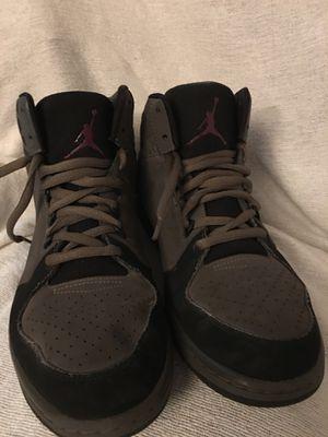 Nike Air Jordan 1 Flight 3 Sneakers Graphite/Bordeaux-Black 706954-015 Sz 12 Good Condition see pics new shoe strings for Sale in Fredericksburg, VA