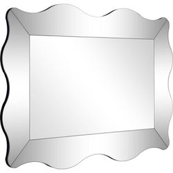 """Camden Isle Home Contemporary Decorative Wall Mounted Antonella Beveled Accent Mirror - 23.63""""W x 35.38""""H, Clear Thumbnail"""