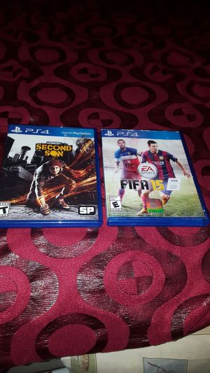 First 15 and second son for ps4 for Sale in Alexandria, VA