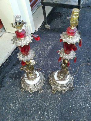 Pair of Antiquey Lamps for Sale in Frederick, MD