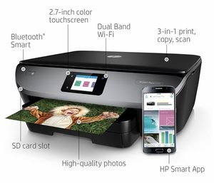 [EUC] HP Envy Photo 7155 All in One Photo Printer with Wireless Printing, Instant Ink Ready (K7G93A) for Sale in Washington, DC