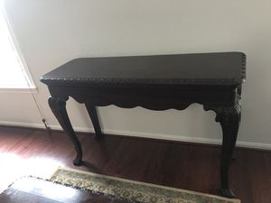 Mahogany console table & coffee table for Sale in Gaithersburg, MD