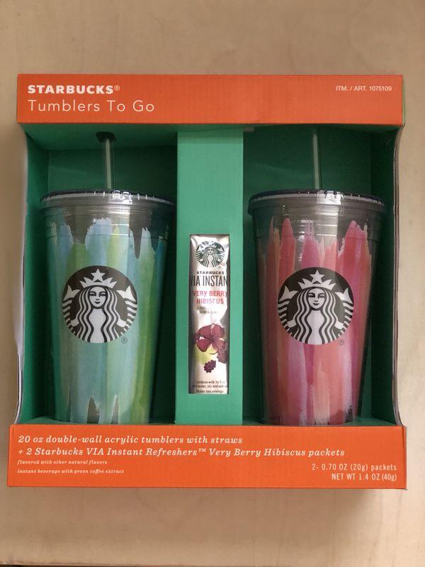 Starbucks 20 Oz Tumbler 2 2 Starbucks Instant Refreshers For Sale