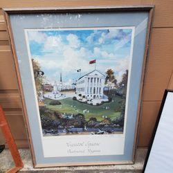 Capitol Sqere  Ricmond Virginia. By Paul.D. 1985. Singhd. Huge Art In Fraim .vintage. 30x40in Thumbnail