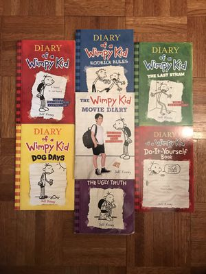 Diary of a Wimpy Kid Book Series 1-5, A Movie Diary Book & A Do It Yourself Book for Sale in New York, NY