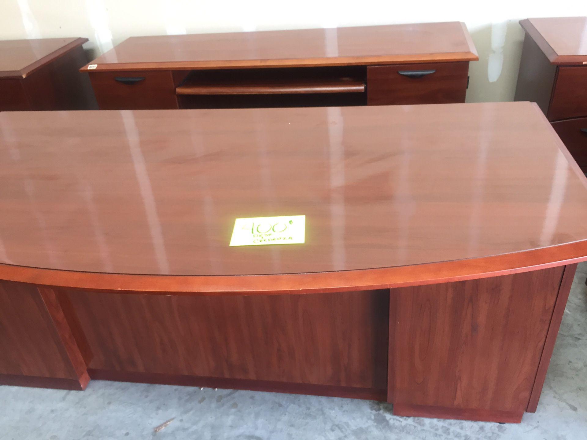 Office Desk & Credenza