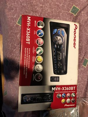Pioneer MVH-X360BT Digital Receiver for car or stereo system for Sale in Washington, DC
