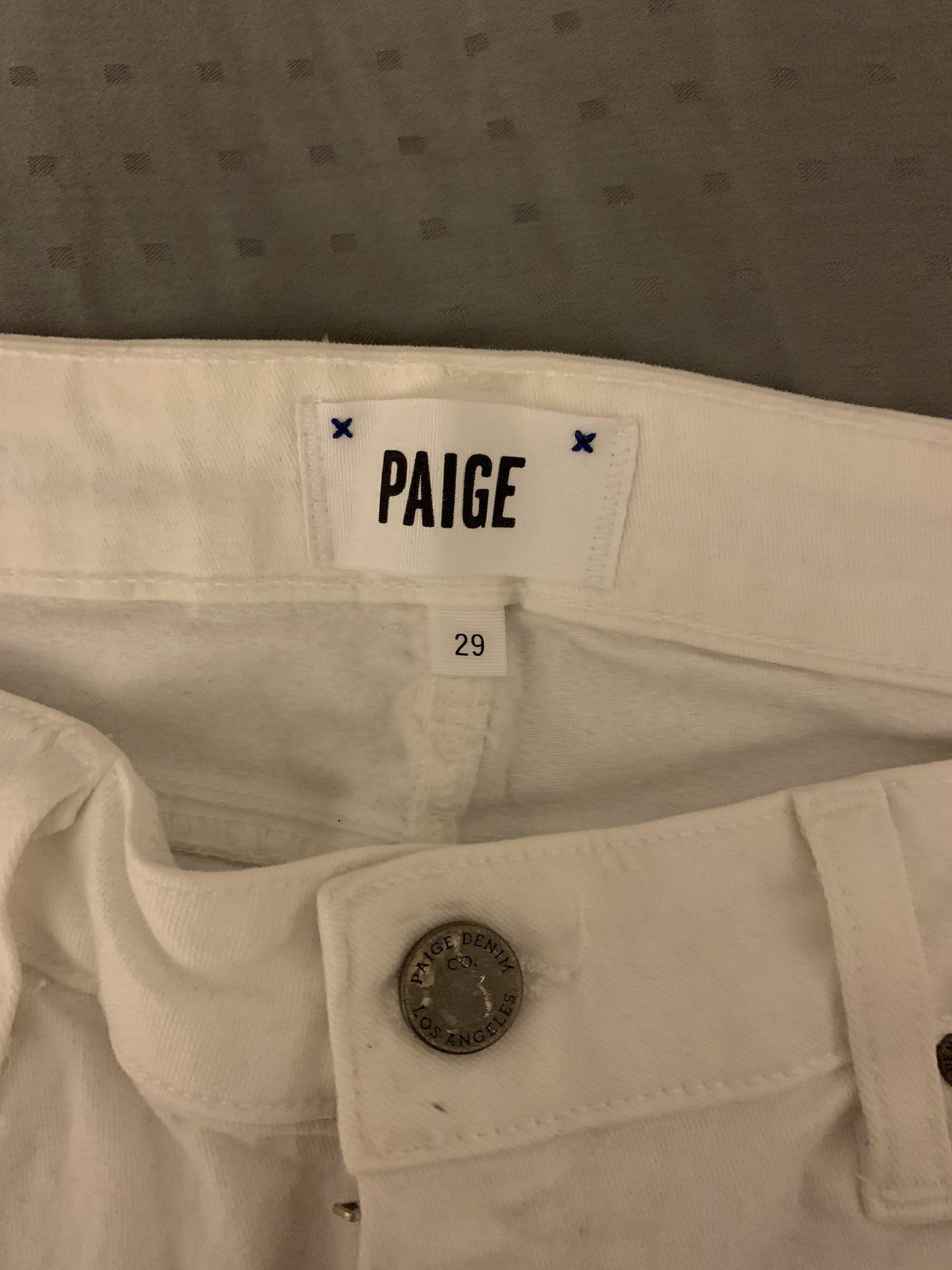 Paige Denim White Jeans