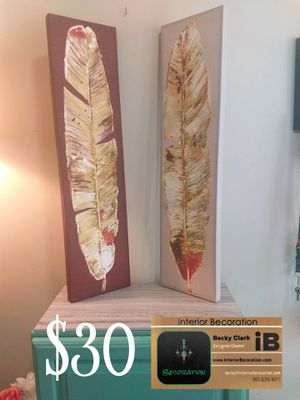 Set of two Canvas art pieces for Sale in Frederick, MD
