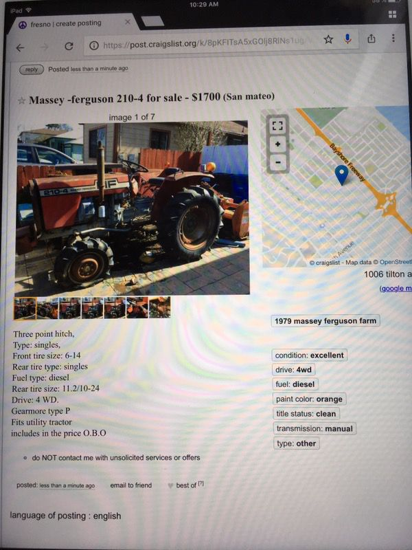 Massey ferguson 210-4 for Sale in San Mateo, CA - OfferUp