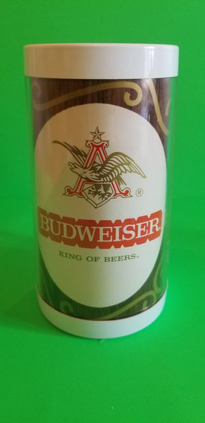 Photo BUDWEISER Vintage THERMO-SERV Insulated Plastic Beer Mug / Cup ~ Anheuser Busch
