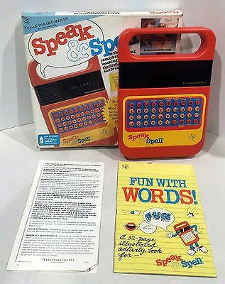 Vintage Texas Instruments Speak & Spell w/Box & Instructions