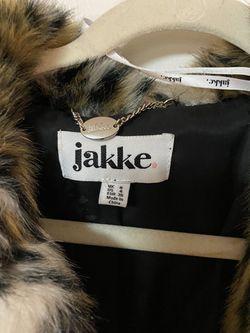 Leopard Faux Fur Coat Thumbnail
