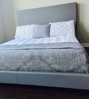 New Grey Queen Bed for Sale in Chevy Chase, MD