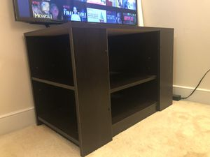 Brown TV stand and shelf for Sale in Arlington, VA